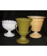 3 Vintage Plastic Flower Pots - $12.99