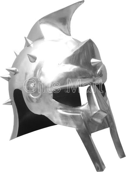 Medieval Gladiator Helmet Maximus Greek Armor Movie Stage Drama,movie,prop,repl.