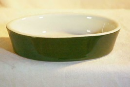 Hall Pottery Forest Green #570 1/2 Individual Oval Baker With No Lid - $4.84