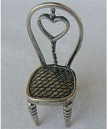 Heart chair silver miniature - $25.00