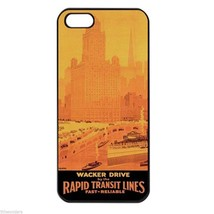 CHICAGO WACKER DRIVE RAPID TRANSIT Apple Iphone Case 4 5/5s 5c 6 Plus 6s... - $14.95