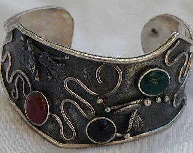 Red,black and green bangle