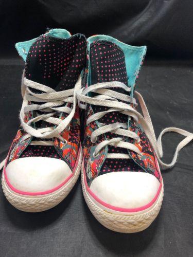Converse Junior CT All Stars HI 654210C Sneakers Black/Orange/Pink Size 4.5 US