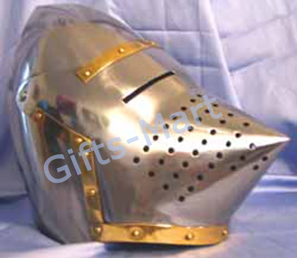 Medieval Pig-Faced Bascinet Helmet Military Sca Armour Collectibles HelmetsHouns