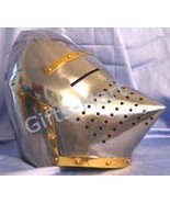 Medieval PigFace Helmet Bascinet Helm Military Sca Armour Collectibles H... - $55.50
