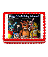 Five nights at Freddy's FNaF 3 party edible cake image topper frosting s... - $7.80