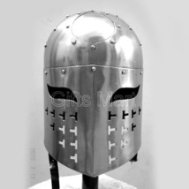 Medieval Spangen Helmet Militaria knight Helmets + Liner Collectible armour Gift - $67.00