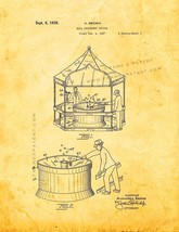 Ball Amusement Device Patent Print - Golden Look - $7.95+
