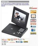 "7"" AC/DC TFT LCD Swivel Screen Portable DVD PLA... - $128.57"
