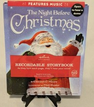 Hallmark Recordable Book The Night Before Christmas With Music  - $20.56