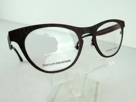 Prodesign Denmark 4383(4921) Red-Brown Med. Matt 51x21 Titanium Eyeglass Frames - $46.95