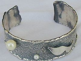 2White and  pearls bangle B - $60.00