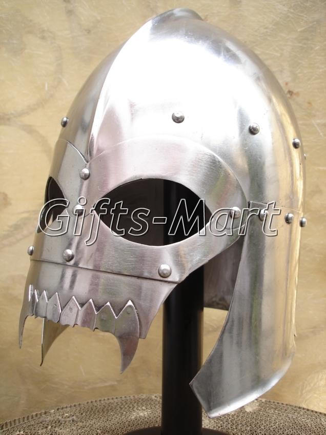 Medieval Viking Skull Helmet, Antique Collectible Larp Helmets SCA Fantasy Armor