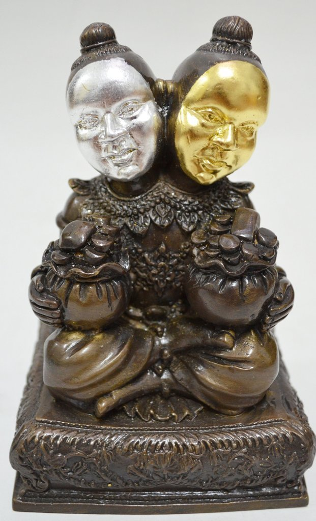 Thai Macig KuManThong Twin Lp.Saam Nao WatPo Saang Ko Temple Sing Buree Province