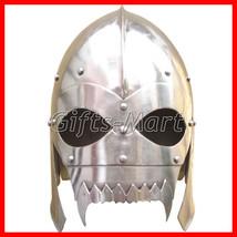 Medieval Viking Skull Helmet, Antique Larp Helmets SCA Fantasy, Reenactm... - $64.89
