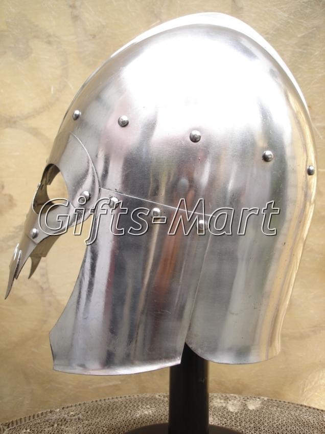 Medieval Viking Skull Helmet, Antique Larp Helmets SCA Fantasy, Reenactment Larp