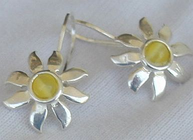 Primary image for  Mini Yellow sun earrings
