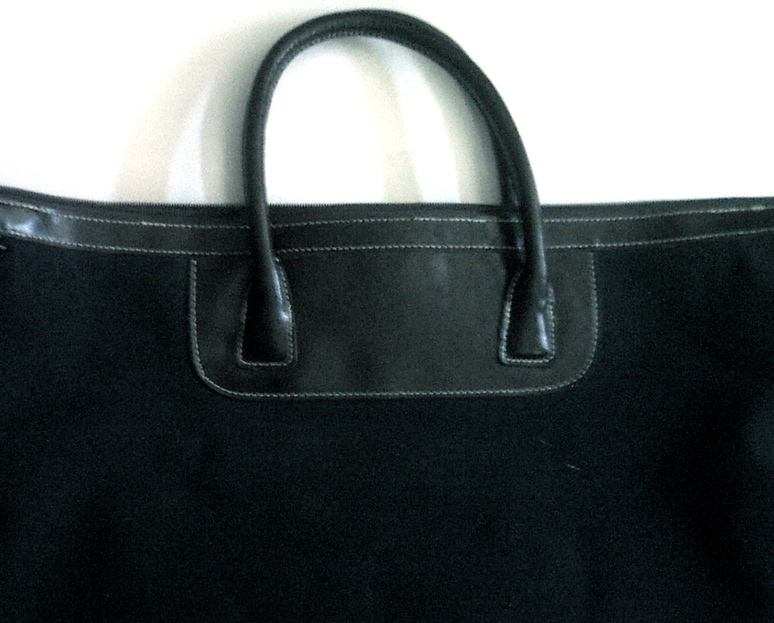 Utility Bag Satchel Lancome Canvas Black and Brown