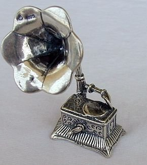 Old gramophone miniature