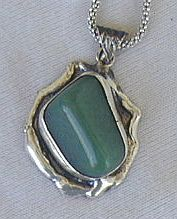 Hand made green pendant