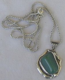 Hand made green pendant HP4