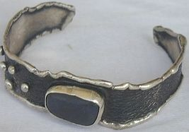 Black agate bangle HP   - $70.00
