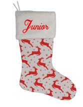 Junior Custom Christmas Stocking Personalized Burlap Christmas Decoration - $17.99
