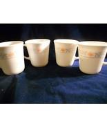 "4 Corelle ""Apricot Gold"" 9 ounce mugs - $4.94"