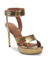 Givenchy Shark Stiletto Metallic Platform Sandals 39 MSRP: $1125.00 - $791.99