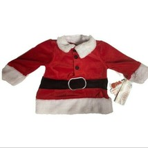Carter's Watch The Wear Velour Red Santa Top Baby Size 3-6 Months NWT  - $13.49
