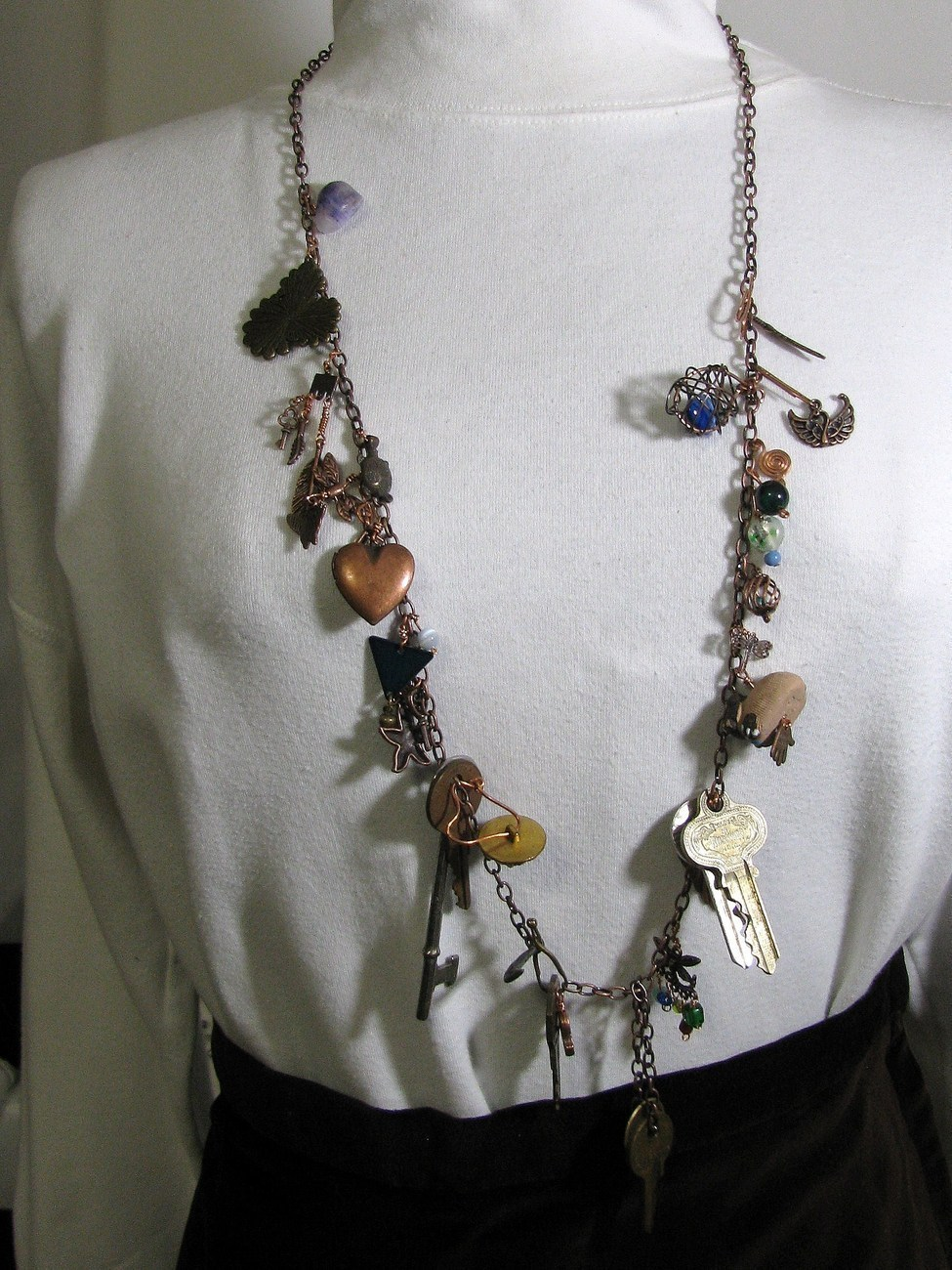 Urban Chatelaine Steampunk Style Necklace RKS89