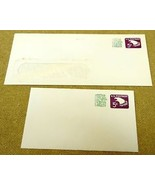 USPS Scott U553 5c Revalued Envelope Lot of 2 Embossed Eagle Purple - $6.96
