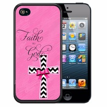 FAITH GOD PINK RUBBER CASE FOR iPHONE 5S 5C SE 6 6S 7 PLUS PINK CROSS CH... - $12.98