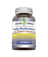 Amazing Formulas Daily Multivitamin 500 Tablets Non-GMO - Just 1 Tablets... - $18.73