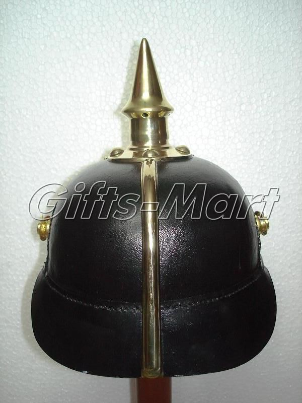 PRUSSIAN HELMET, WWI LEATHER GERMAN PICKELHAUBE SPIKED Helmets, Lowest Price