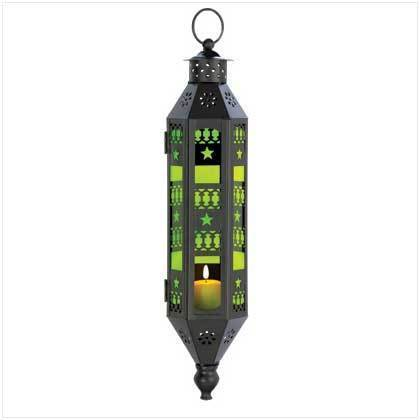 Candle lantern intricate cutouts  cast enchanting candlelight glow