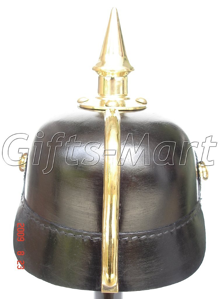 Pickelhaube Preussen Leder Helm WW1 Rüstung Kaiserreich LARP, Prussian helmet F