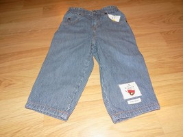 Size 2XL Toddler 2T Baby Gap Blue / White Pin Stripe Denim Blue Jeans Ho... - $15.00