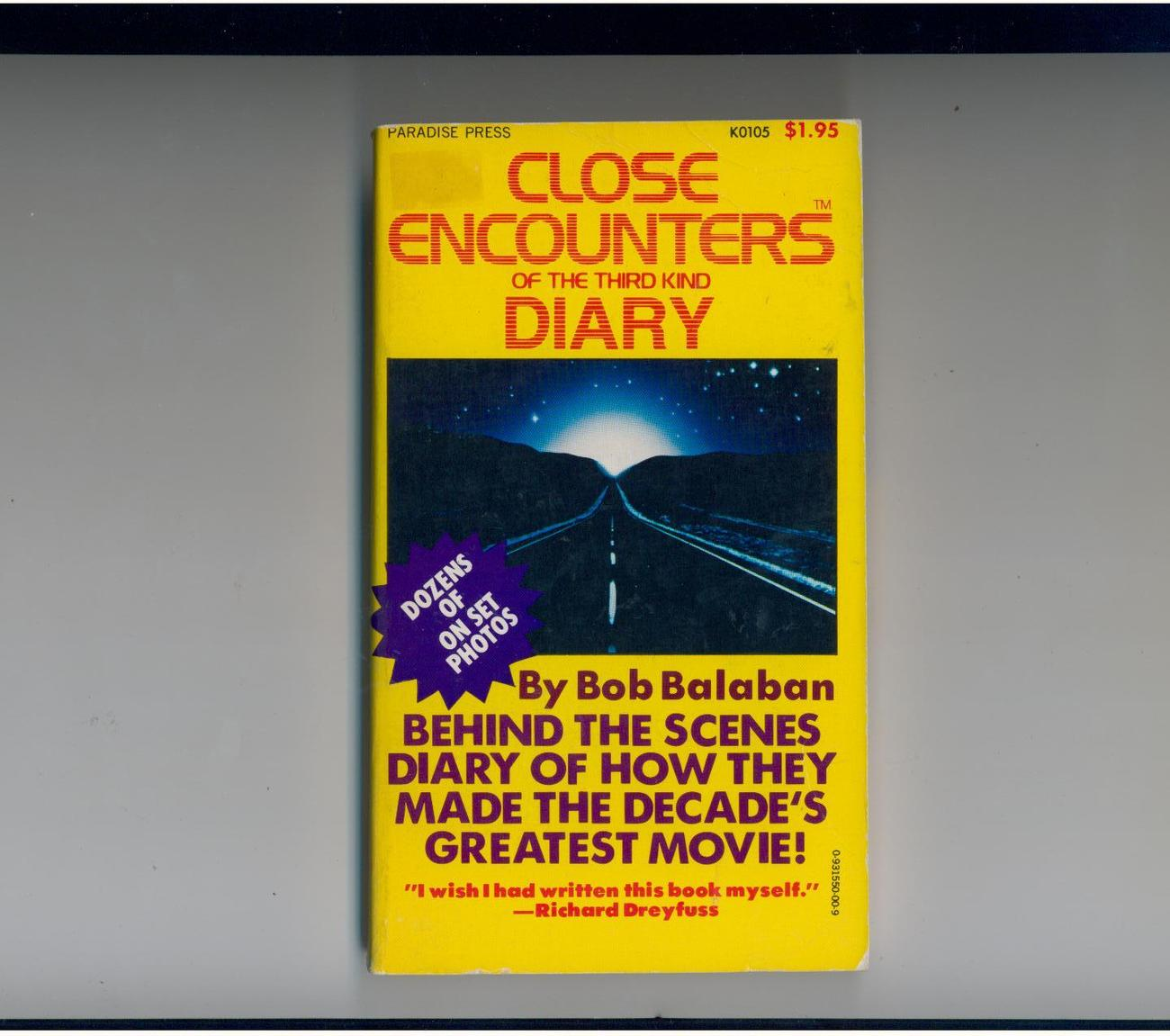 Balaban--CLOSE ENCOUNTERS DIARY--1978 1st--dozens of photos