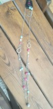 Paparazzi Long Necklace & Earring set (new) #295 PASTEL CHAINS - $7.61