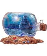 Ship & Moon Bottle Plasma Cut Metal Sign - $40.00