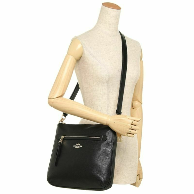 Coach F34823 Pebbled Leather Zip Large Crossbody Bag NWT image 4