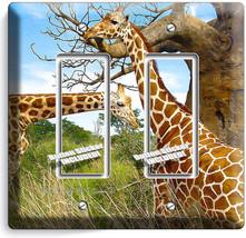 African Giraffe Love Animals 2 Gfci Light Switch Wall Plate Cover Room Art Decor - $11.69