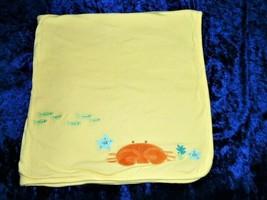 Vintage Gymboree Yellow Orange Ocean Sea Crab 2007 Blanket Fish Seaweed ... - $98.99