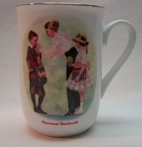 "VINTAGE 1986 Norman Rockwell Museum THE FIRST DAY OF SCHOOL 4"" MUG CUP - $14.85"