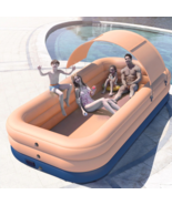 Giant Inflatable Swimming Pool Outdoor Large Above ground Family kids Po... - $394.99