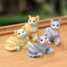 X1PCS RANDOM Cute Cat Animal Miniature Fairy Garden Home Houses Decoration - $4.99