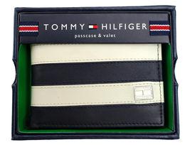 Tommy Hilfiger Men's Leather Wallet Passcase Billfold Navy Bone 31TL22X040 image 10