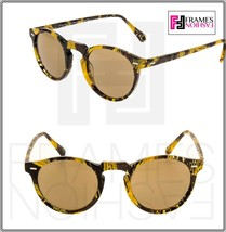 OLIVER PEOPLES ALAIN MIKLI GREGORY PECK SUN Palmier Yellow Tropic Sungla... - $234.63