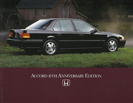 1993 Honda ACCORD 10TH ANNIVERSARY brochure catalog sheet US 93 - $9.00